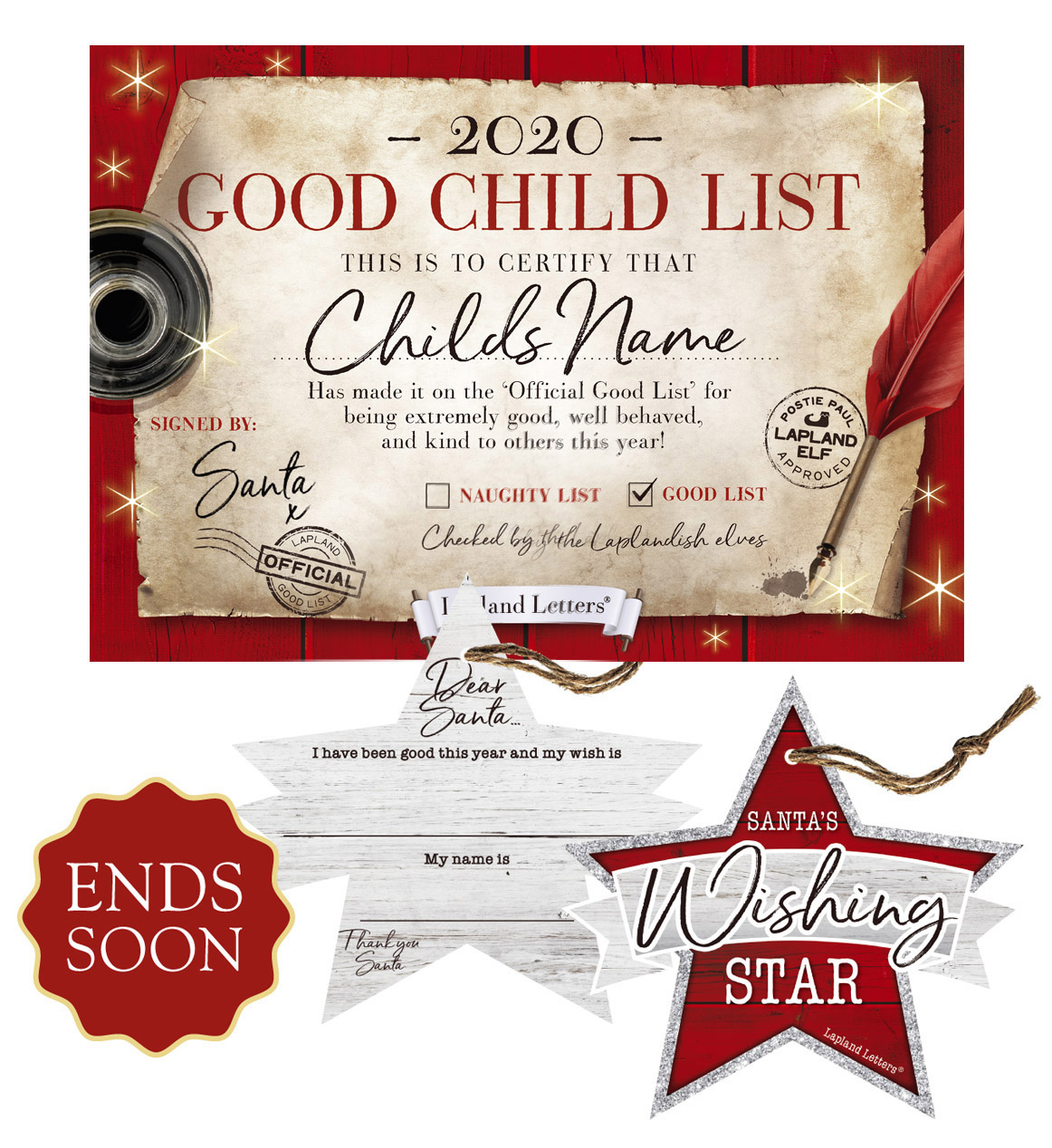 Good Child Boy Or Girl Christmas Certificates  Santa Letter Uk