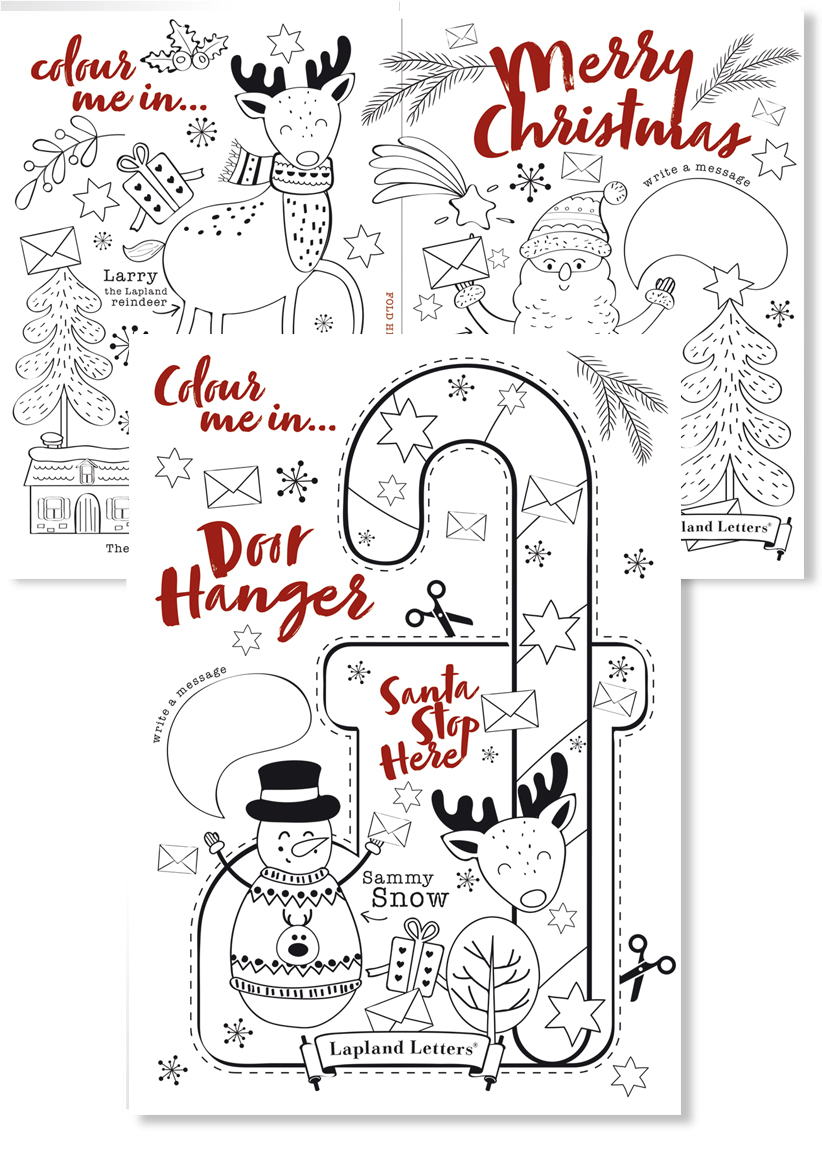 Letter from santa and father christmas letters magical santa letters uk colouring activity sheets spiritdancerdesigns Gallery